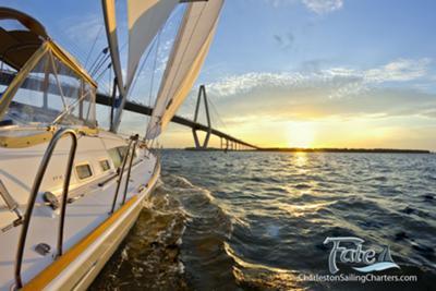 Sailing near the Arthur Ravenel Jr Bridge