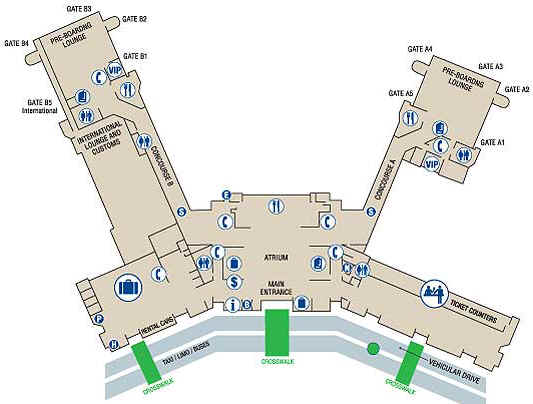 Charleston International Airport Terminal Map