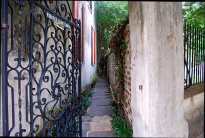 Pirates Courtyard gate